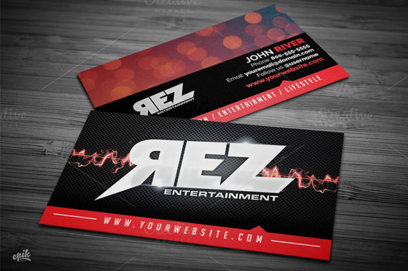 Music Entertainment Business Card