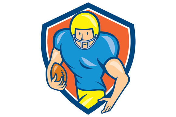 American Football Running Back Shiel