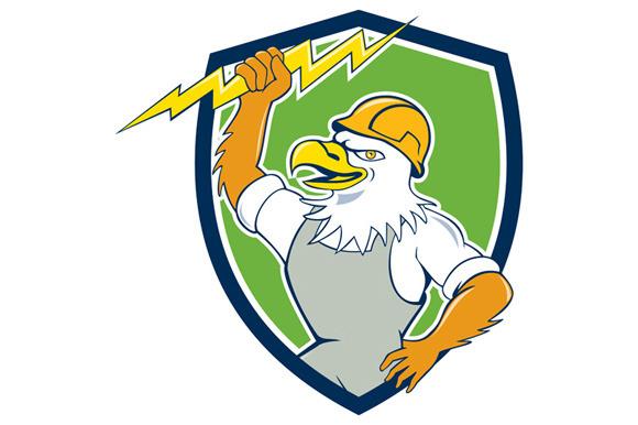 Bald Eagle Electrician Lightning Bol