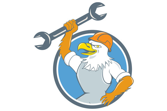 Bald Eagle Mechanic Spanner Circle C