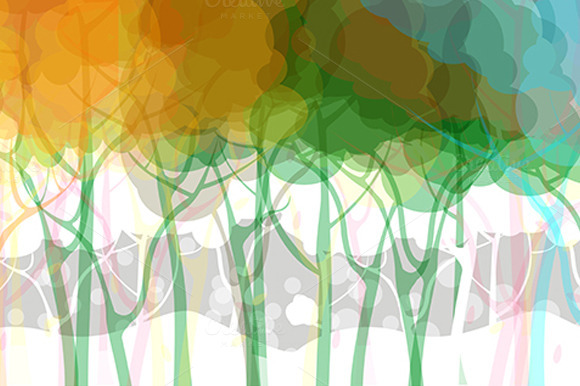 Vector Forest Background