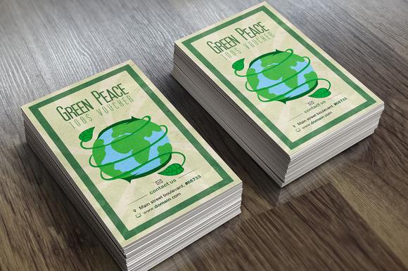 Green Peace Voucher Card