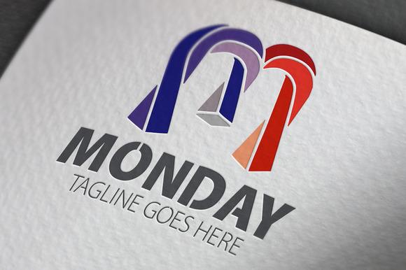 Monday M Letter Logo