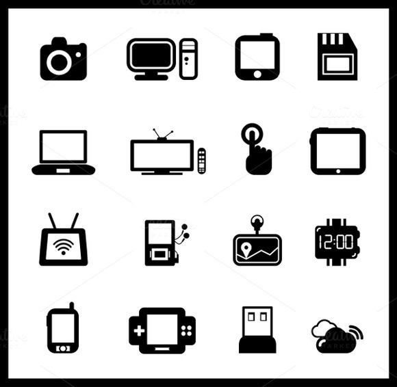 Set Of Vector Device Icons