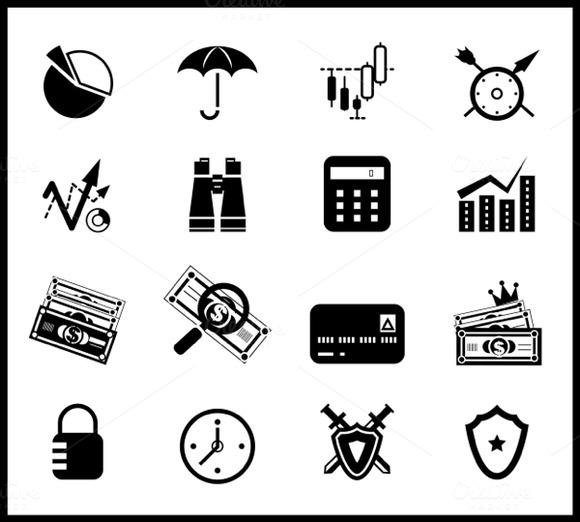 Vector Finance Icons Set