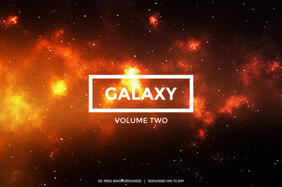 50 Galaxy Backgrounds Volume 2