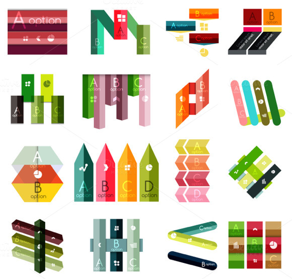 16 Paper Infographic Designs Set 15