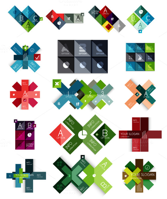 16 Paper Infographic Designs Set 17