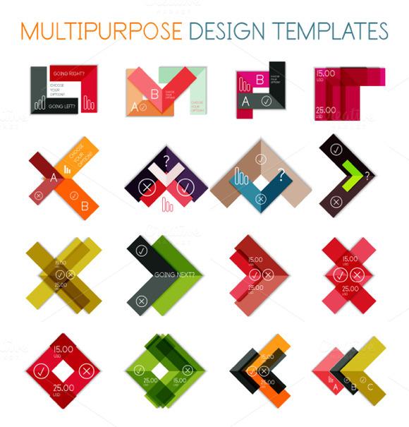 16 Paper Infographic Designs Set 18
