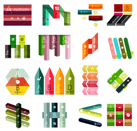 16 Paper Infographic Designs Set 22