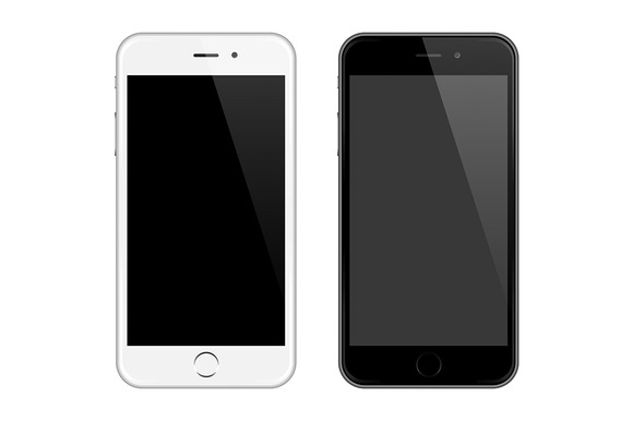 Realistic Vector Iphone Style