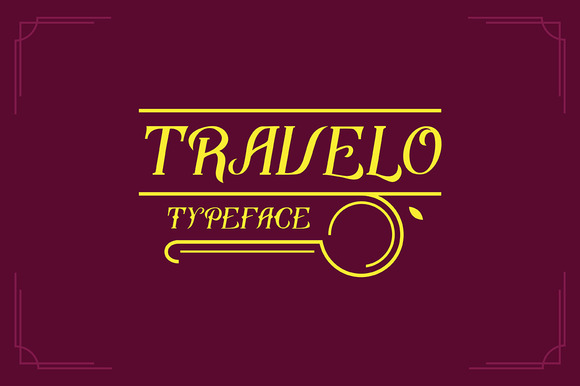 Travelo Typeface Free Texture