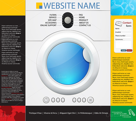 Washing Machines Design Template