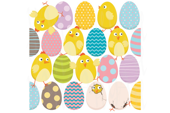 Easter Chicks And Sweet Easter Eggs