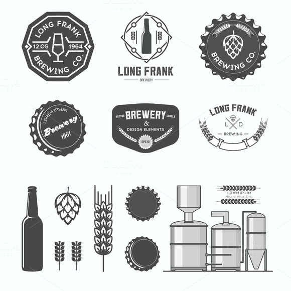 Vector Brewery Labels