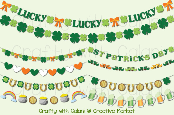 St Patrick S Day Digital Garland