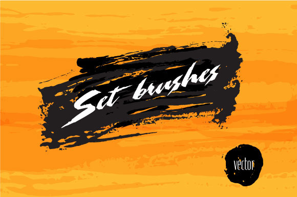 Set Of Vector Brushes And Shapes