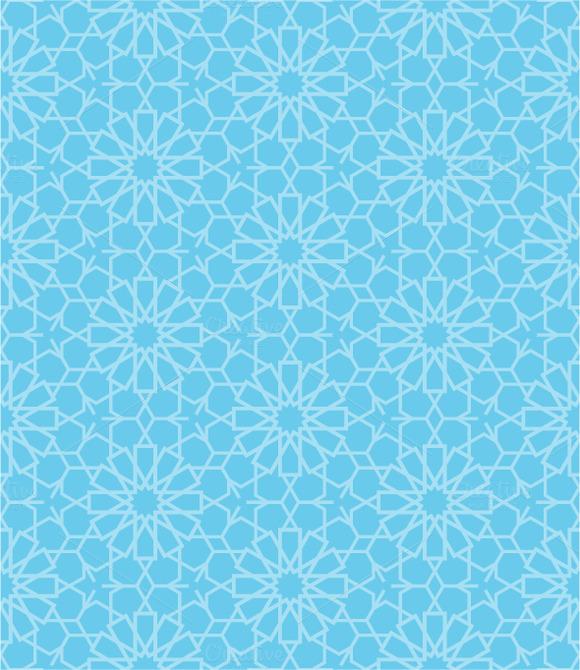 Set Of Oriental Seamless Patterns