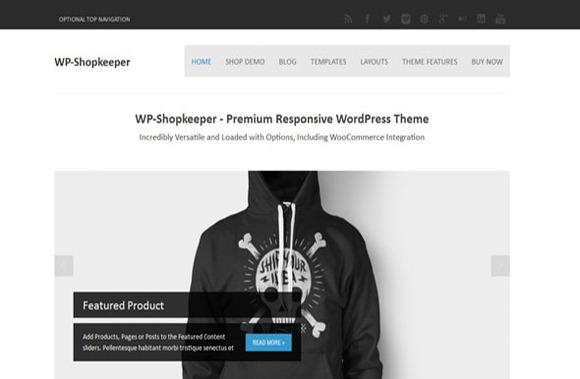 WP-Shopkeep Solostream WP Theme