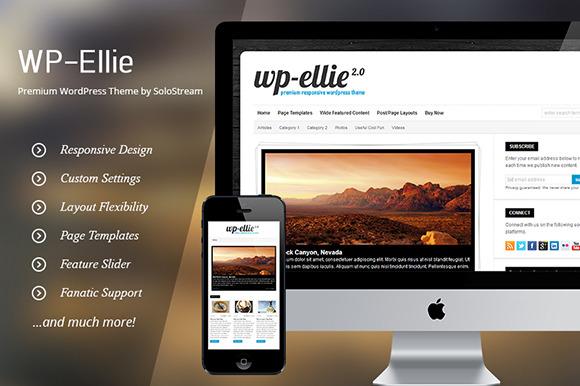 WP-Ellie Solostream Wordpress Theme