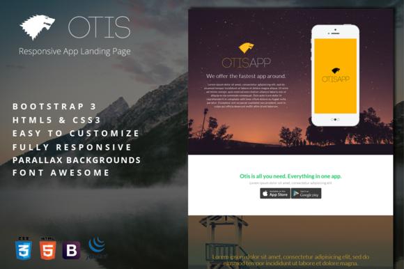 Otis Responsive App Landing Page
