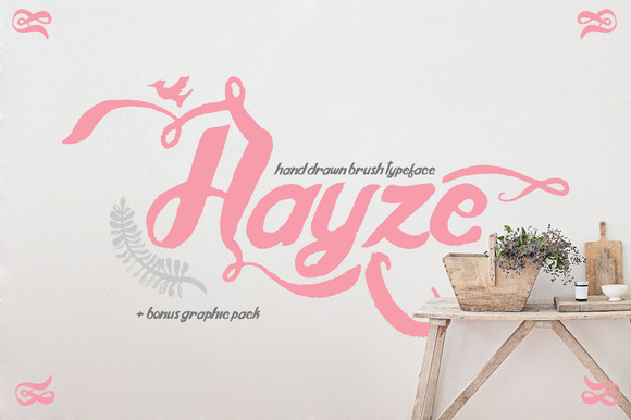 Hayze Hand Drawn Bush Typeface
