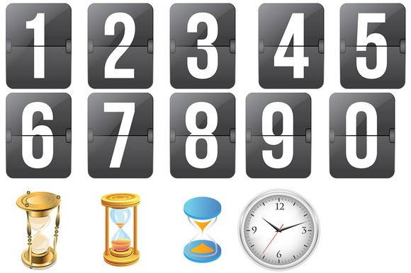 Countdown Icons PSD File