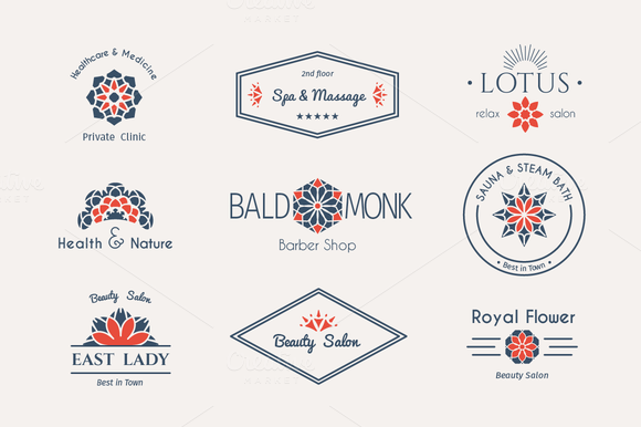 6 Health And Beauty Logo Templates