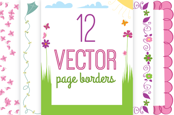 Vector Spring Page Borders
