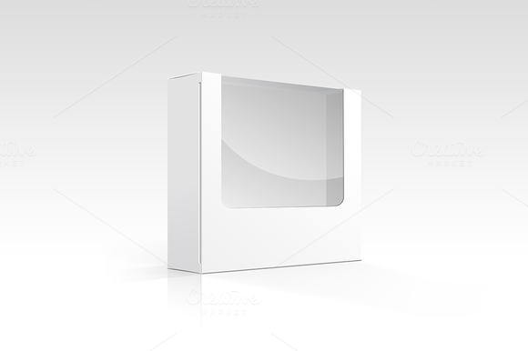 Vector Blank Box With Window