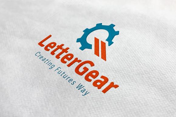 Letter Gear Logo