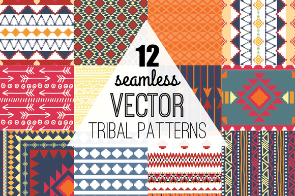 Seamless Vector Aztec Tribal Pattern