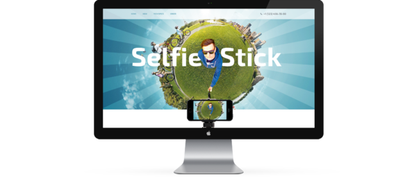 Selfie Stick One Page Template