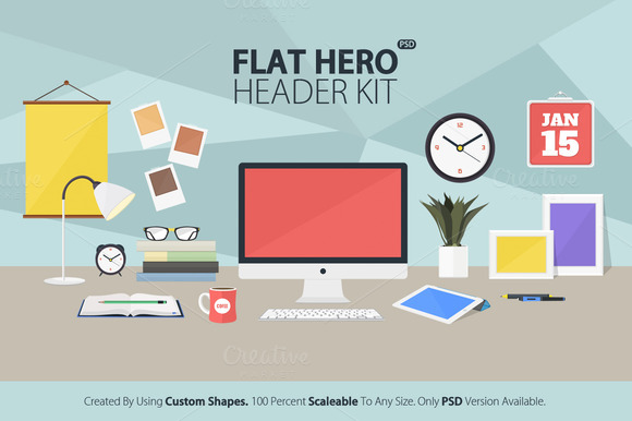 Flat Hero Header Kit V2