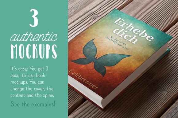 Authentic Book Mockups Vol 01
