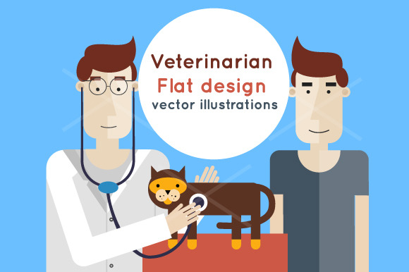 Veterinarian Flat Design
