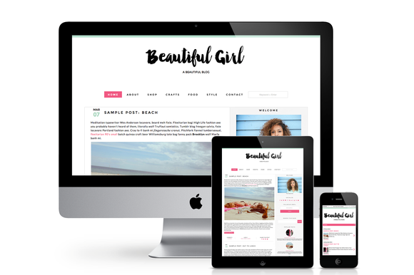 Beautiful Girl Blogger Template