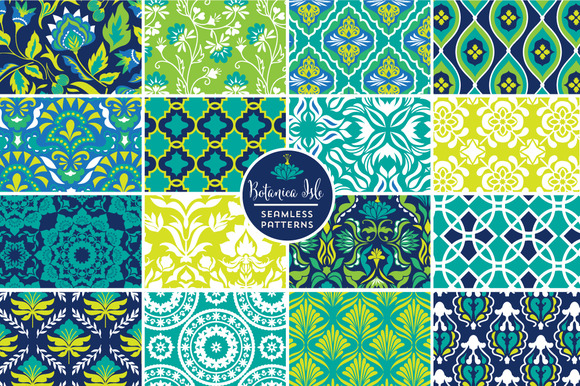 Botanica Isle Seamless Patterns