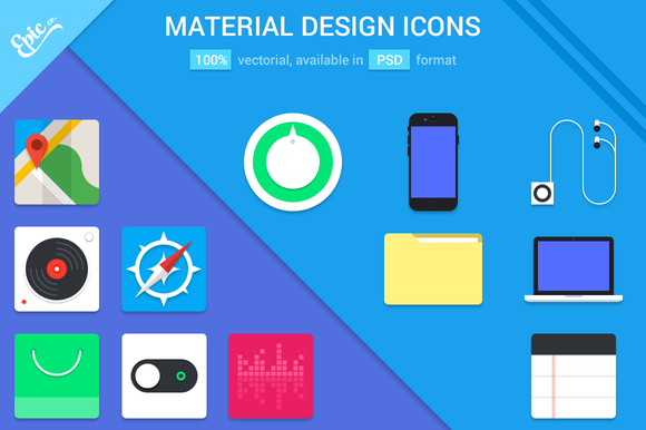Material Design Coloured Icons
