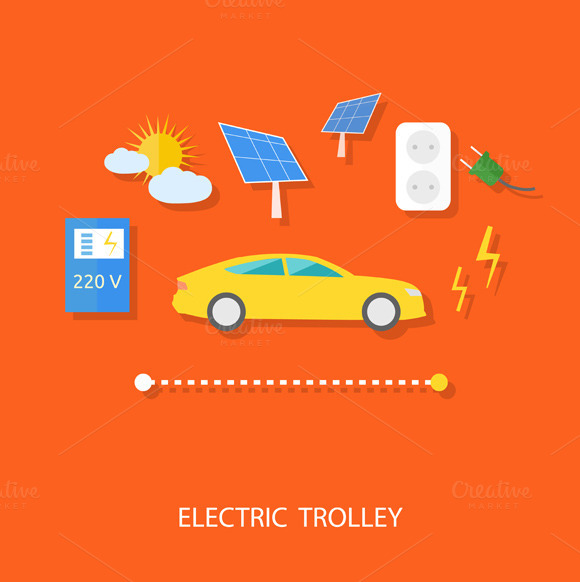 Eco Concept Of Electric Trolley