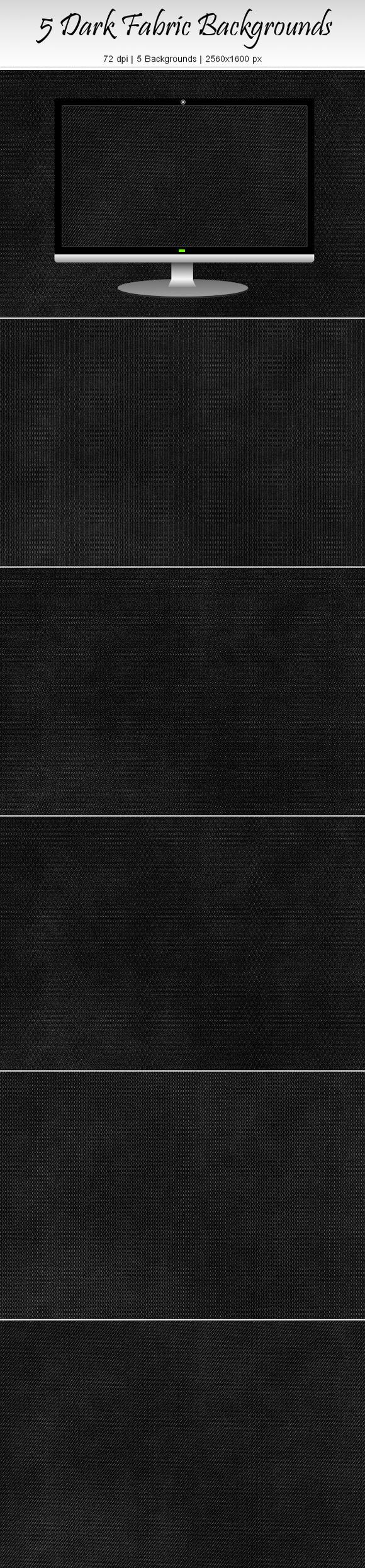 5 Dark Fabric Backgrounds