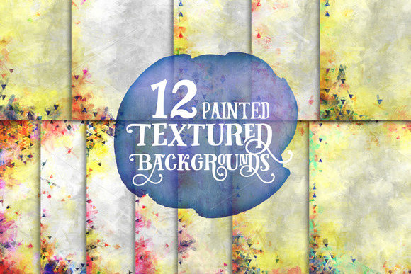 12 Painted Textured Papers