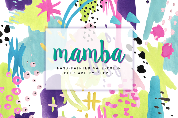 Bright Abstract Watercolor Clipart