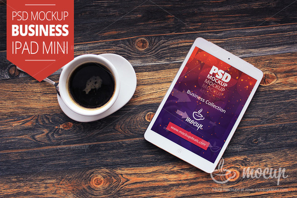 PSD Mockup IPad Mini Business A