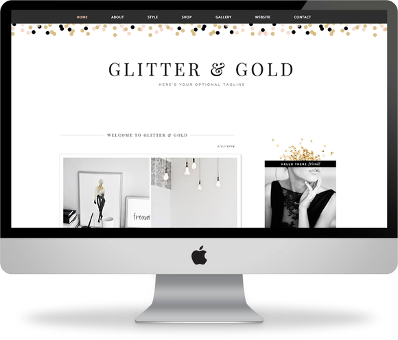 Glitter Gold Blogger Template