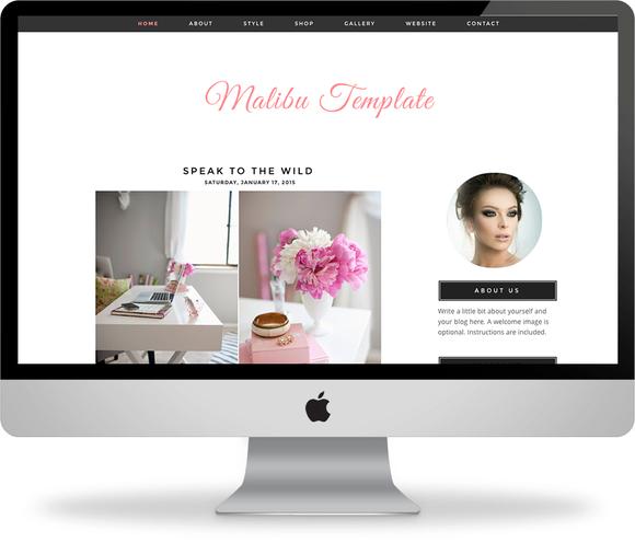 The Malibu Blogger Template