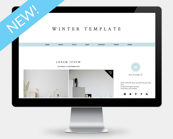 Winter Blogger Template