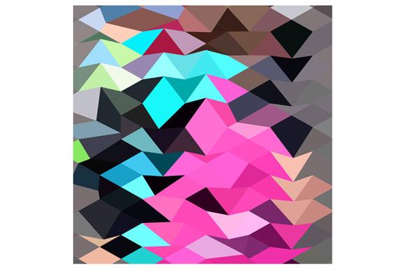Pink Crystal Abstract Low Polygon Ba