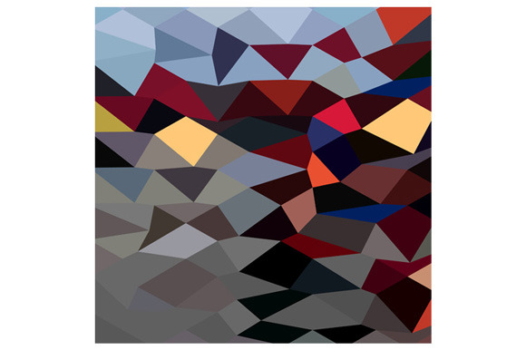 River Flowing Abstract Low Polygon B