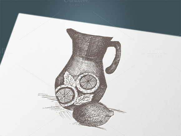 Hand Drawing Jug